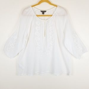 Tommy Bahama Beaded Embroidered Top